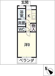 サンシアルザ長田[3階]の間取り