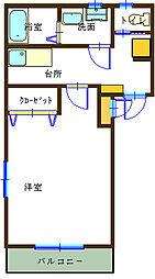 アートサイド21[2階]の間取り