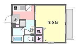 千葉県習志野市藤崎7丁目の賃貸アパートの間取り