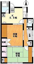 長澤コーポ[1階]の間取り