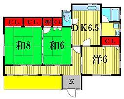 [一戸建] 千葉県松戸市二十世紀が丘美野里町 の賃貸【千葉県 / 松戸市】の間取り