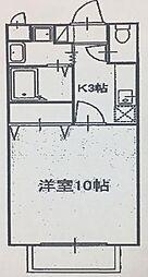 アムール西岡崎[205号室]の間取り