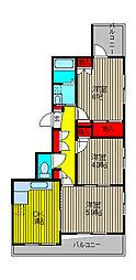 メゾン奥ノ木[3階]の間取り