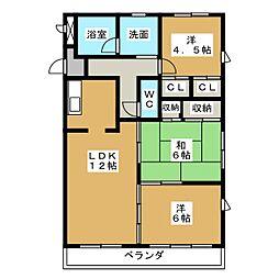 植田山ミルキーウェイ[3階]の間取り