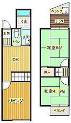 [テラスハウス] 大阪府箕面市瀬川4丁目 の賃貸【/】の間取り