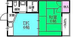 スミユー香枦園[205号室]の間取り