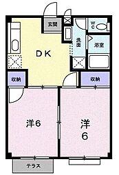 エスポワール[A103号室]の間取り