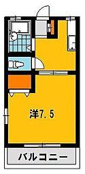 栃木県宇都宮市双葉3丁目の賃貸アパートの間取り