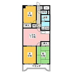 チェリーミニオン[2階]の間取り