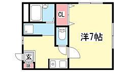 コンフォール湊川[2階]の間取り