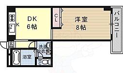 ファーストパレス 2階1DKの間取り