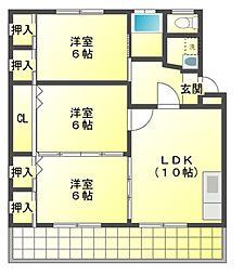 Nハイツ24[3階]の間取り