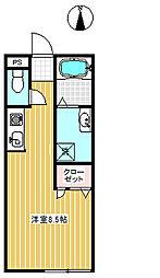 コディアック[102号室]の間取り