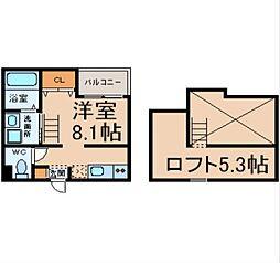 愛知県名古屋市中川区大畑町2丁目の賃貸アパートの間取り