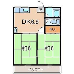 ハイツ若草B[1階]の間取り