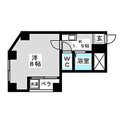サン吉仲[2階]の間取り