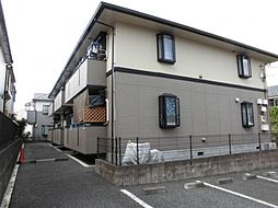 東京都八王子市椚田町の賃貸アパートの外観
