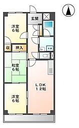 第3高杉マンション[5階]の間取り