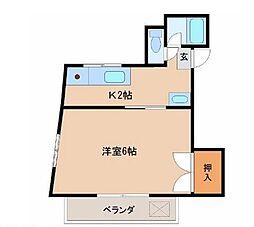 宮崎県宮崎市恒久の賃貸マンションの間取り