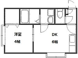 北海道札幌市豊平区豊平八条9丁目の賃貸アパートの間取り