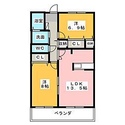 NOBLE II[3階]の間取り