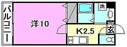 サンクレイドルカメヤマ[204 号室号室]の間取り