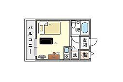 家具・家電付き ルエメゾンロワール大橋 A[8階]の間取り
