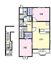 クラロポルタ[2階]の間取り