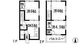 [テラスハウス] 兵庫県宝塚市安倉中1丁目 の賃貸【/】の間取り