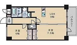 BGC難波タワー[3階]の間取り