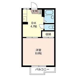 イースト ハウス B[2階]の間取り