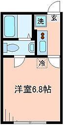 東京都板橋区大和町の賃貸アパートの間取り