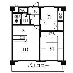 愛知県名古屋市守山区新守西の賃貸マンションの間取り
