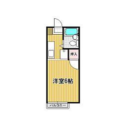レインボーハイツ平松[105号室]の間取り