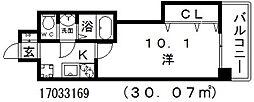 ラグゼ天王寺[3階]の間取り