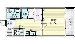 阪急京都本線 相川駅 徒歩2分の賃貸アパート 1階1Kの間取り