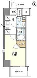 パークリュクス大阪天満 10階1Kの間取り