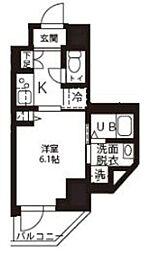 JR横浜線 新横浜駅 徒歩8分の賃貸マンション 5階1Kの間取り