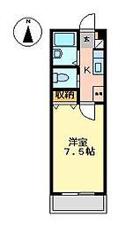 静岡県田方郡函南町間宮の賃貸マンションの間取り