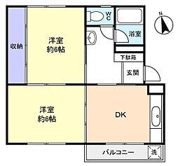 志津ハイリビング[2階]の間取り