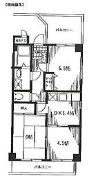 ANEX SAWA[2階]の間取り