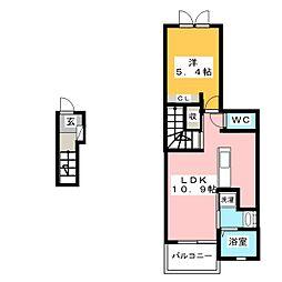 グリーンパークサイド[2階]の間取り