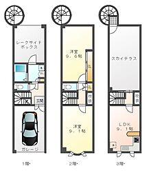 滋賀県大津市雄琴5丁目の賃貸アパートの間取り