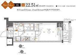 AZEST四つ木[8階]の間取り