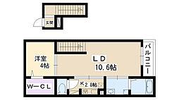 La Luce[401号室]の間取り