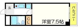 グランコート江坂[2階]の間取り