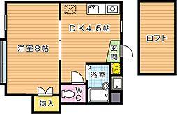パンシオンソワニエ B棟[2階]の間取り