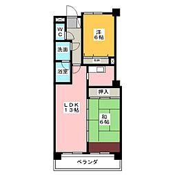 グリームオブ覚王山[4階]の間取り