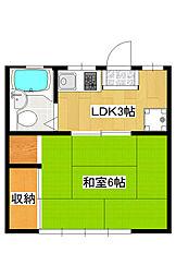 菊池コーポ1[1階]の間取り