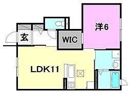 ディアコート・アイ[102 号室号室]の間取り